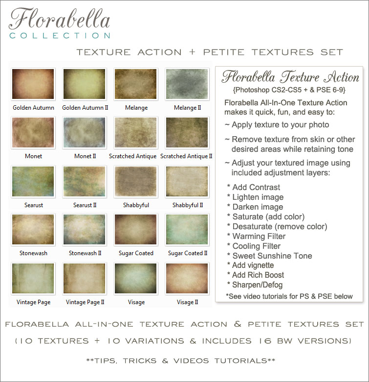 Florabella Collection » Florabella Photoshop Actions and