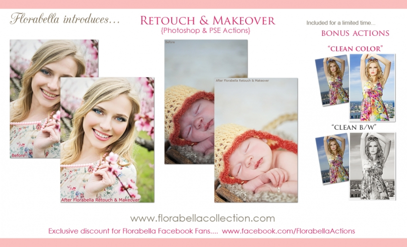 Florabella Retouch & Makeover Photoshop actions
