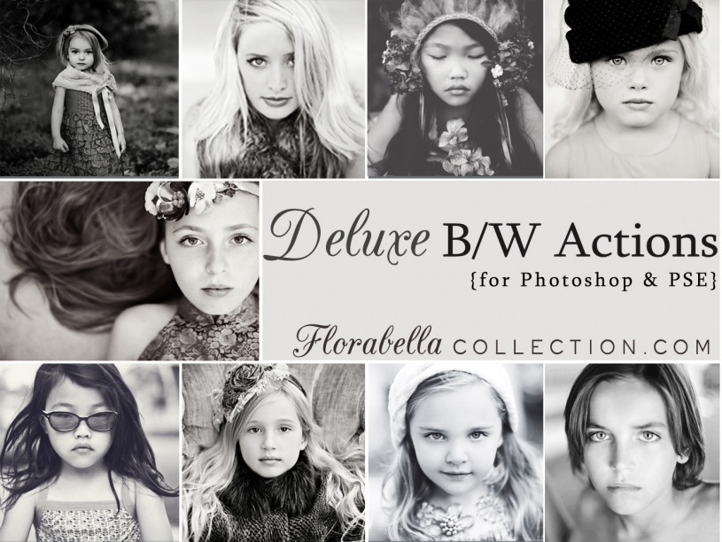Florabella Collection - Deluxe B/W Photoshop Actions