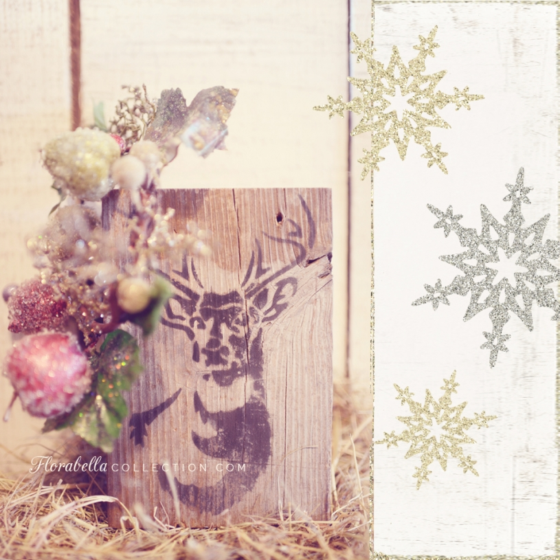 Florabella Holiday Barn Decor Reindeer Barn Wood