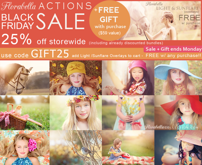 Florabella Actions Black Friday SALE + Free Overlays Use code GIFT25